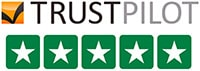 Trustpilot Five Star Reviews